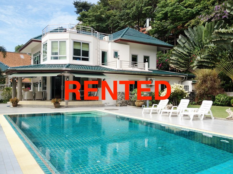 4 bedroom private pool villa for long term rent in Kathu Phuket