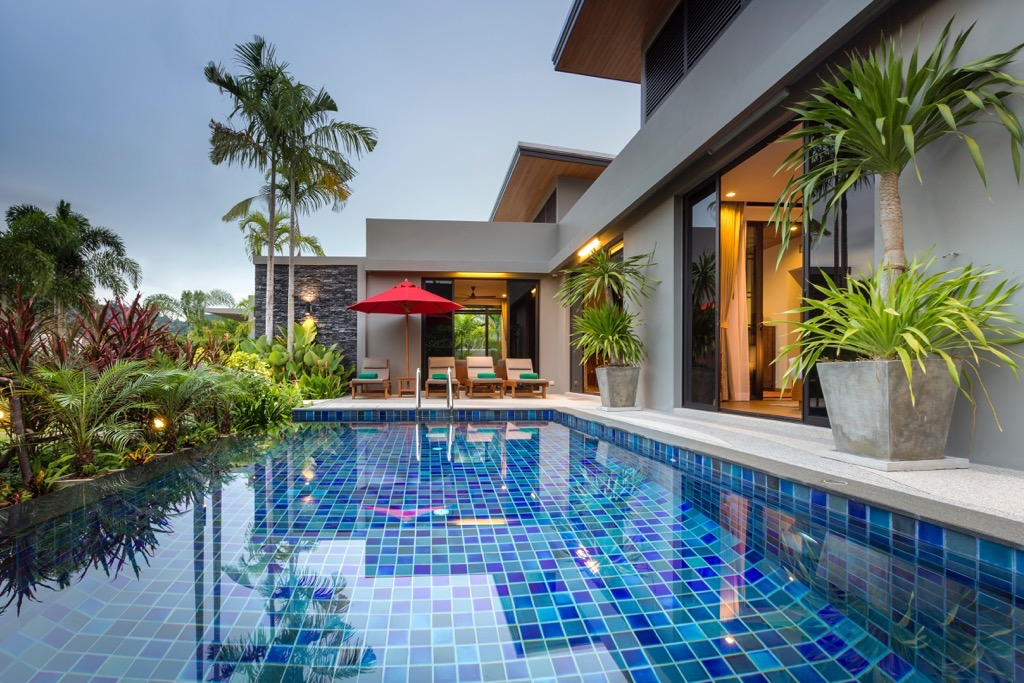 A luxury 3 bedroom Pool villa in a contemporary Asian style in Nai Harn