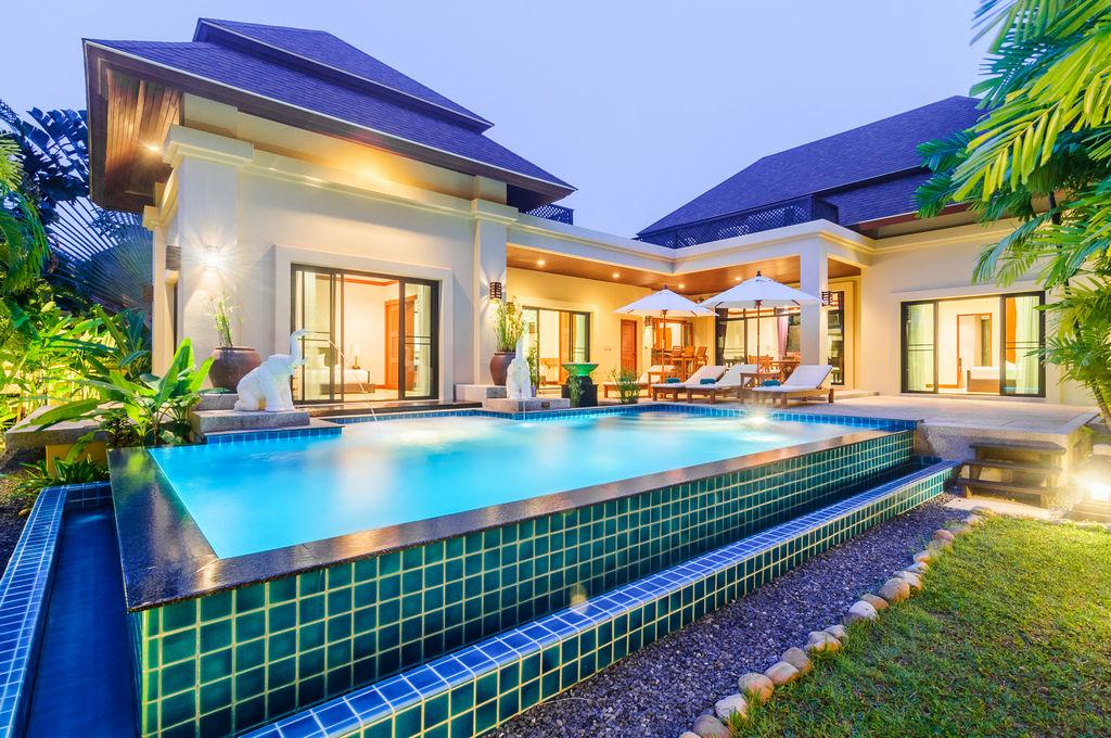 Thai Modern Thai Balinese 3 Bedroom Pool Villa in Nai Harn