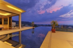 Modern sea view 4 bedroom pool villa for rent in Nai Thon