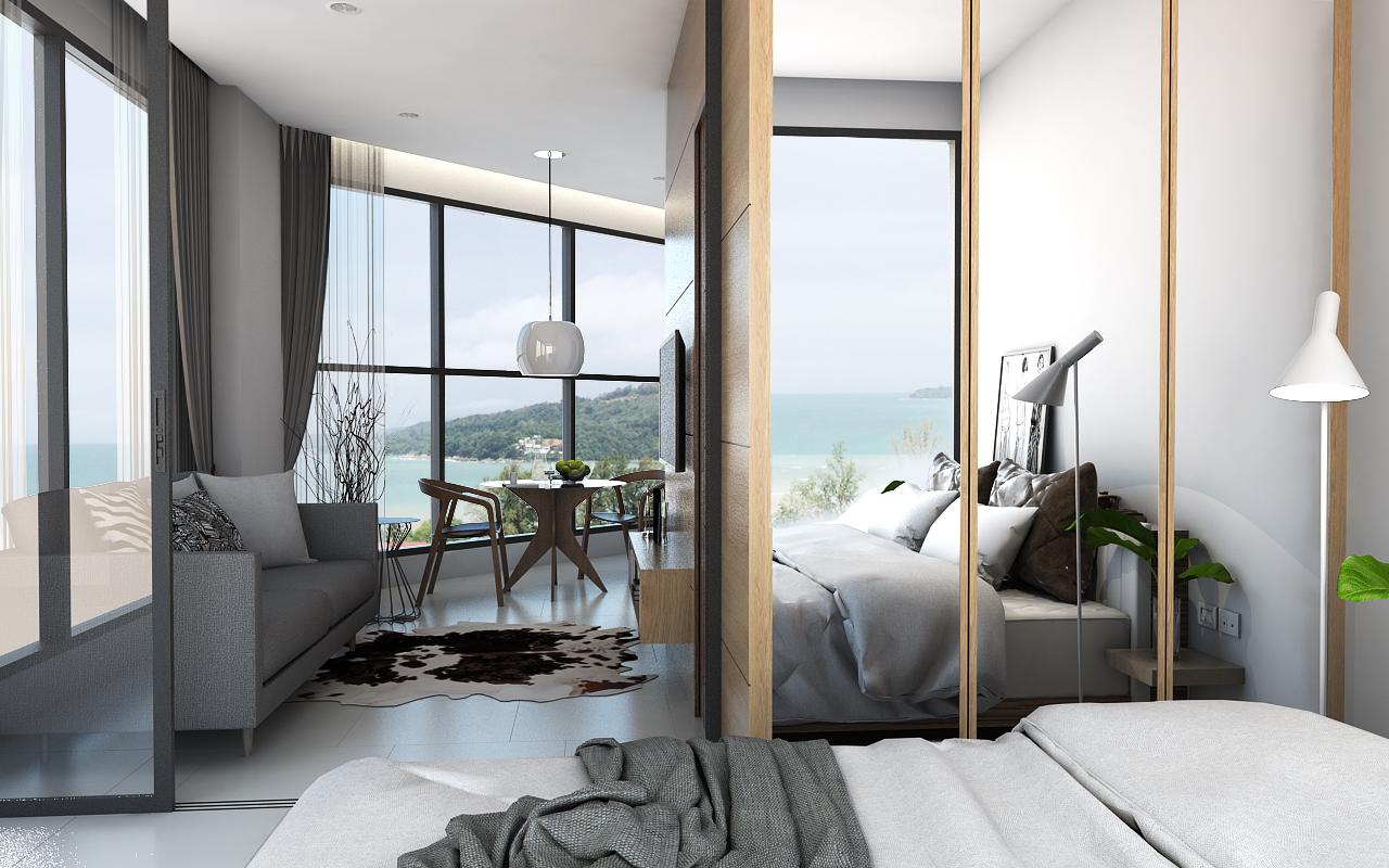 A unique hillside location and Sea View Condominium for Sale in Kamala