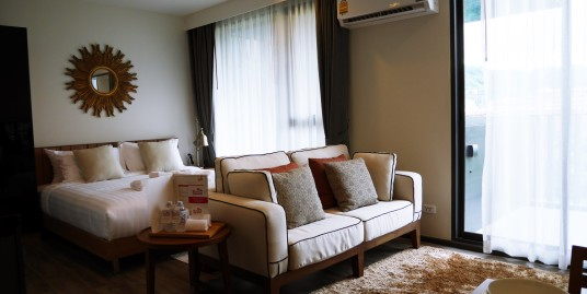 Studio apartment 33 square meter for sale in the Heart of Patong, 7% rental guarantee for 2 years