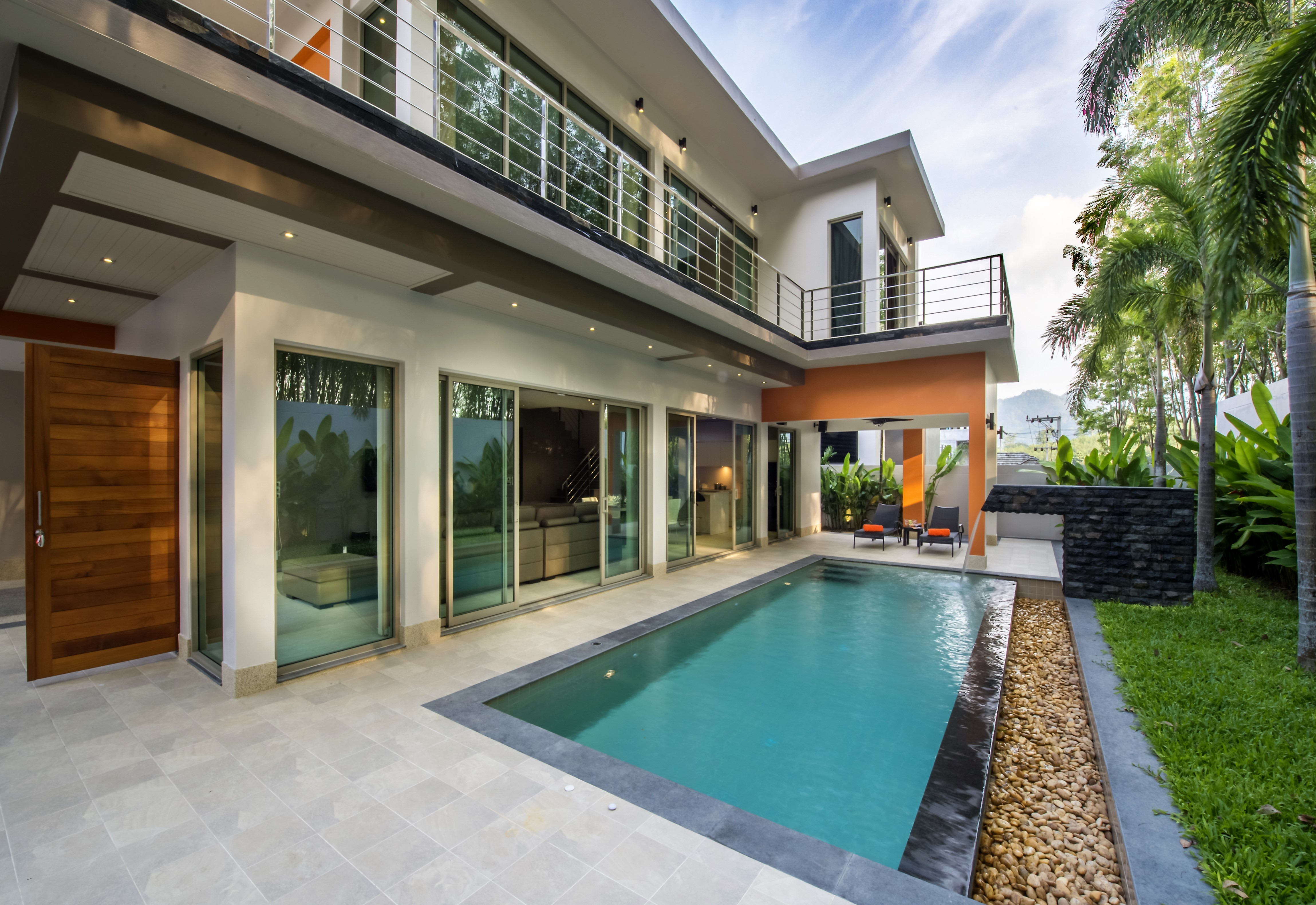 A brand new 3 bedroom Pool Villa-chic and modern Laguna area