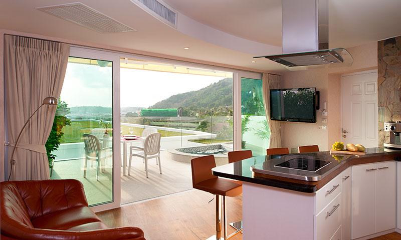 Sea View 1 Bedroom Suite for rent in Kata Beach