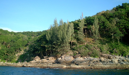 15 Rai of ocean front land for sale in Kamala Phuket Thailand