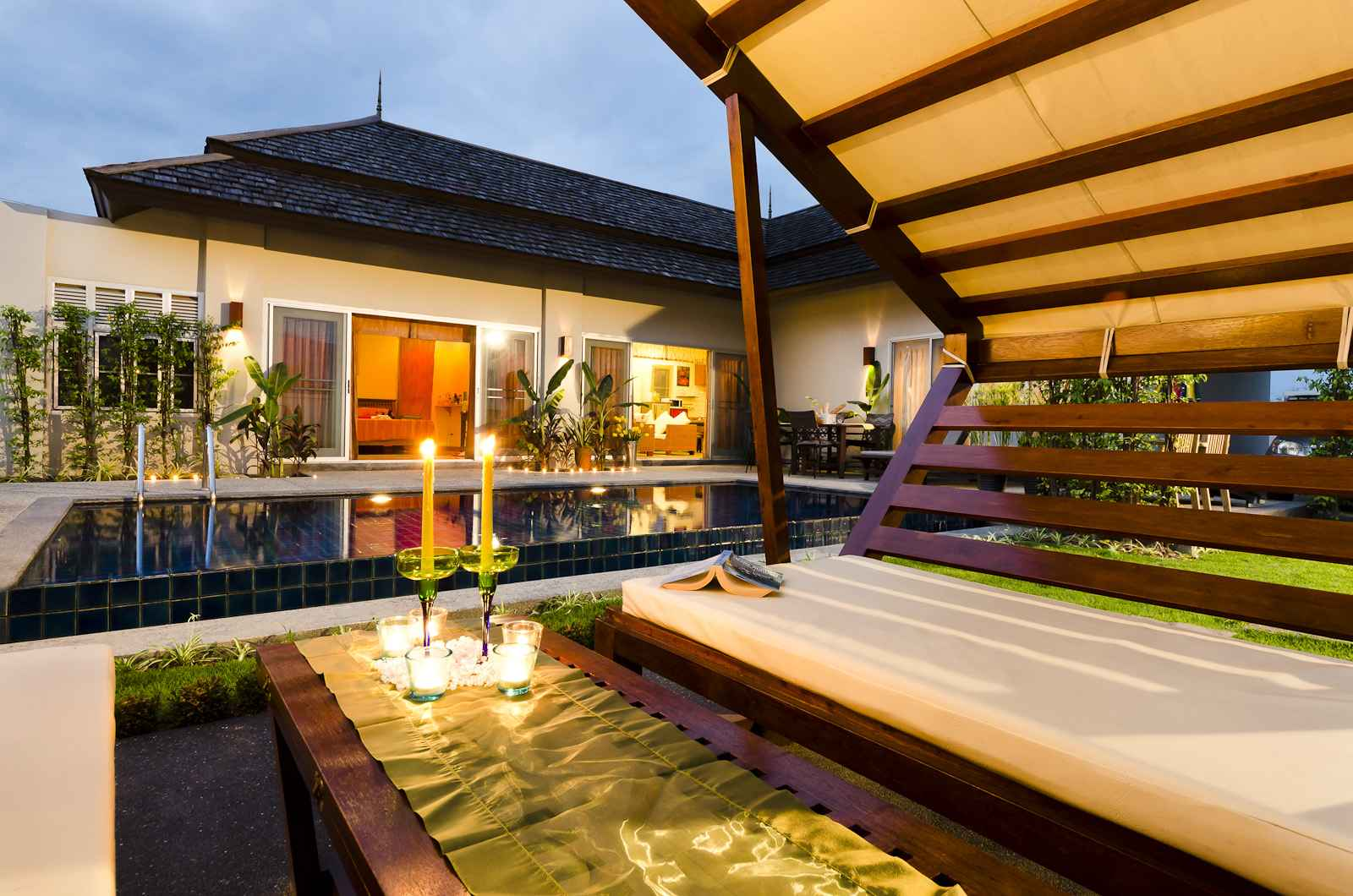 Pool villa with 2 bedrooms for rent in Thalang Phuket