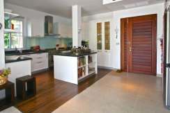 Entry plus kitchen