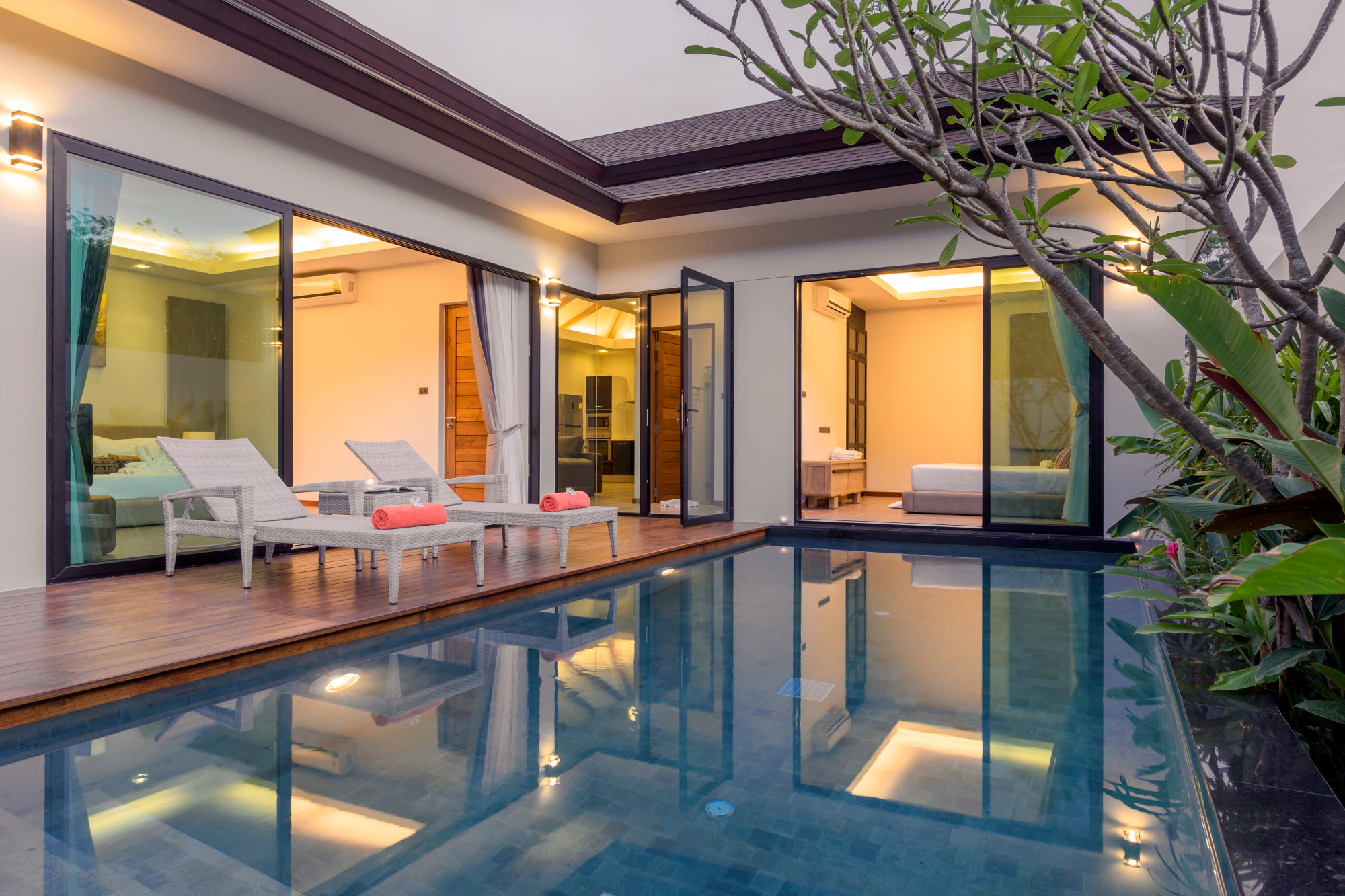 Luxury Private Pool Villa 2 bedroom for rent near Phuket International Airport