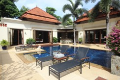 Contemporary Thai Baliness 4 bedroom Pool Villa for rent near Laguna