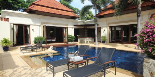 Thai Balinese Pool Villa 4 bedroom for Sale in Bang Tao