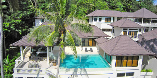 Beach Front 6 Bedroom Contemporary Asian architecture Pool villa for rent