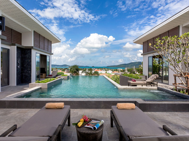 Contemporary and Luxurious Pool Villas complex overlooking Rawai bay