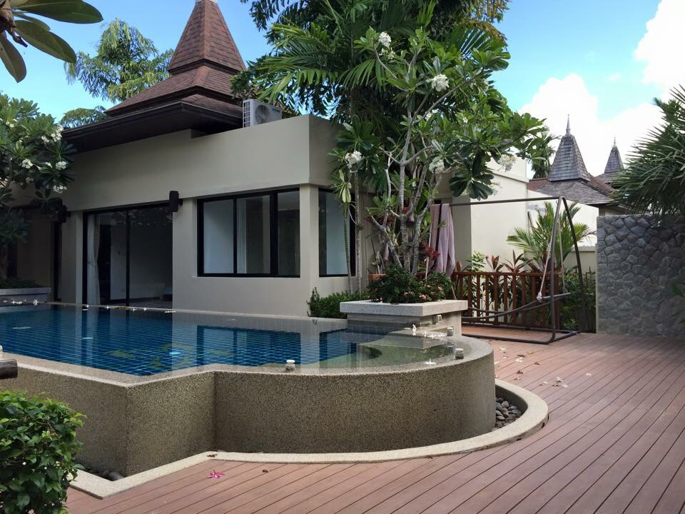 Balinese Style 4 Bedroom Pool Villa for rent in Cherngtalay Layan