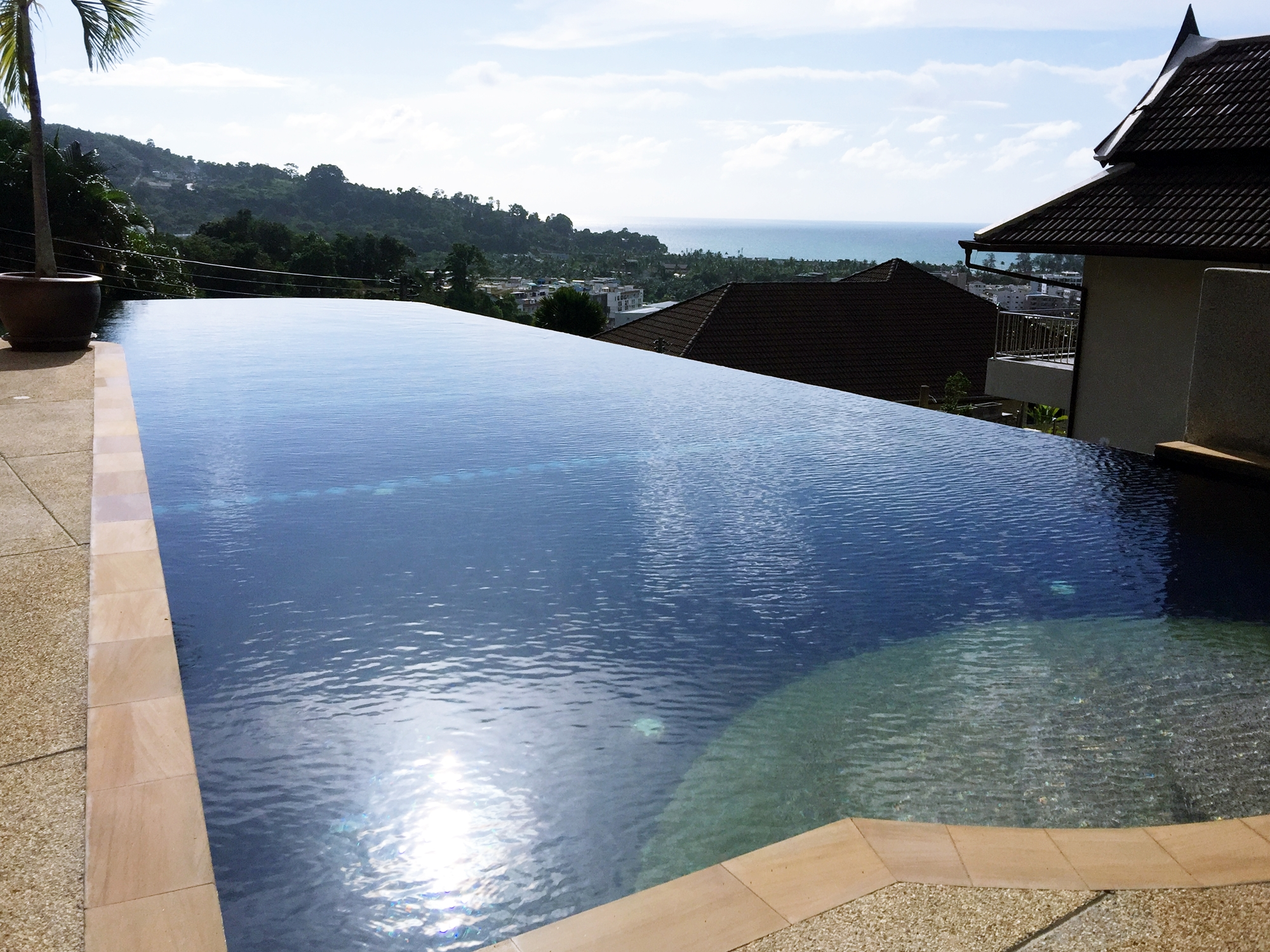 Sea View over Patong Bay, 3 Bedroom villa with communal Pool for rent